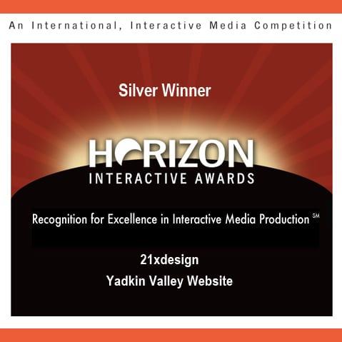 Yadkin Valley Website Wins a Silver!