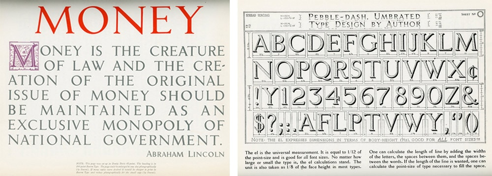 Lincolniana Vintage Typography Book